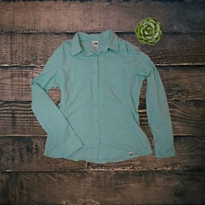 The North Face Mint Green Button Down Shirt LG